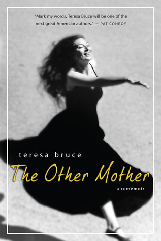 The Other Mother book cover. Black and white image of a woman smiling and skipping. Everything is black and white, including the text, except for the title, The Other Mother, which is in yellow.